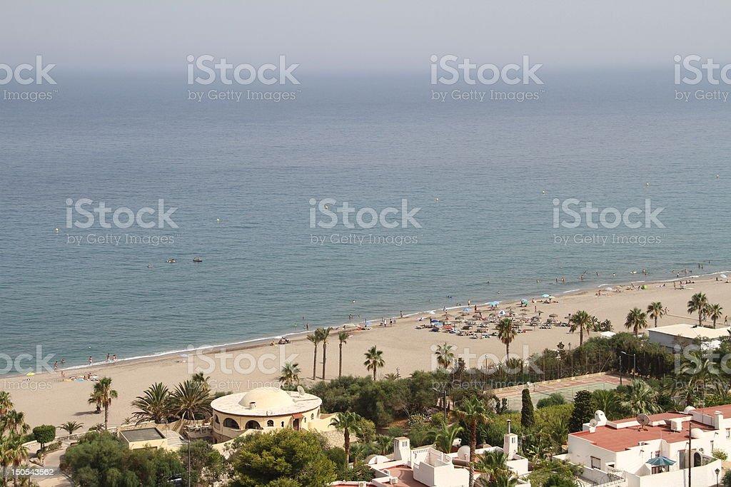 Beach in Mojacar stock photo