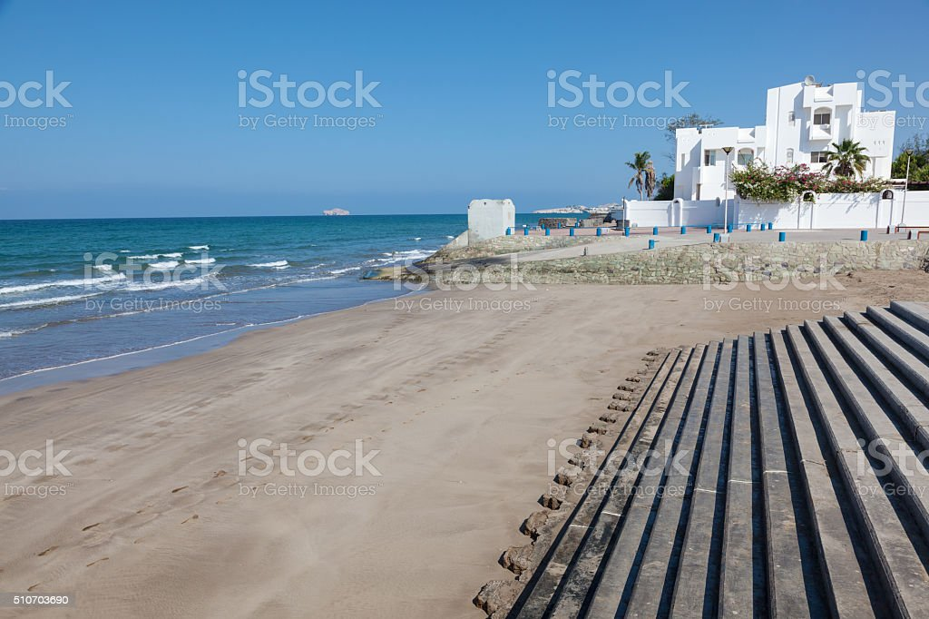 Beach in Muscat, Oman stock photo