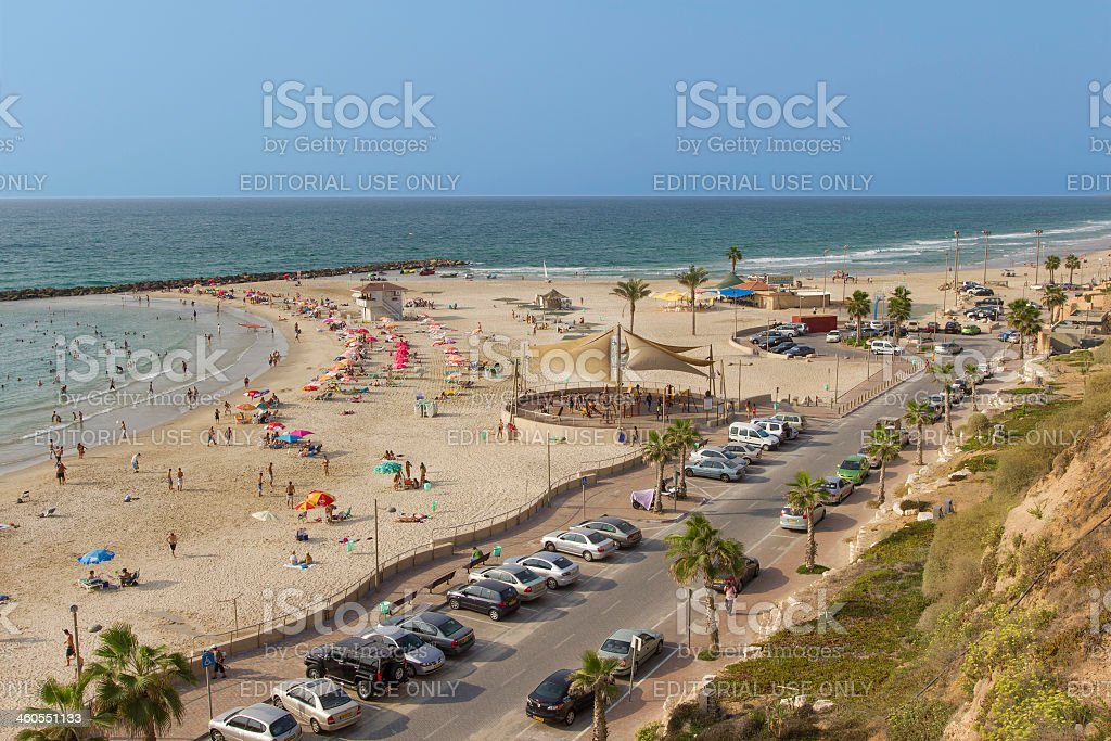 Beach in Nethanya, Israel royalty-free stock photo