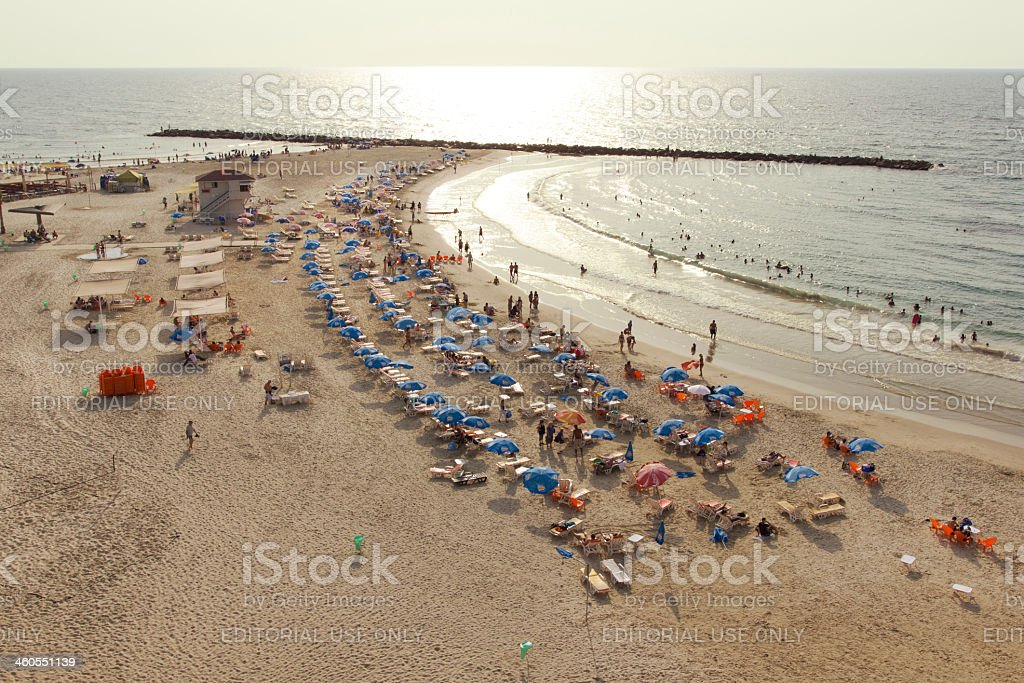 Beach in Nethanya, Israel royalty-free stock photo
