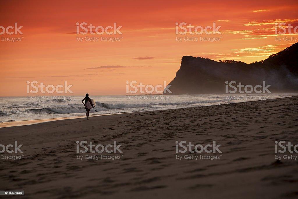 Beach in Nicaragua stock photo