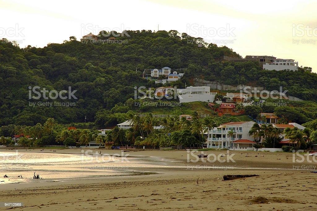 Praia na Nicarágua foto royalty-free