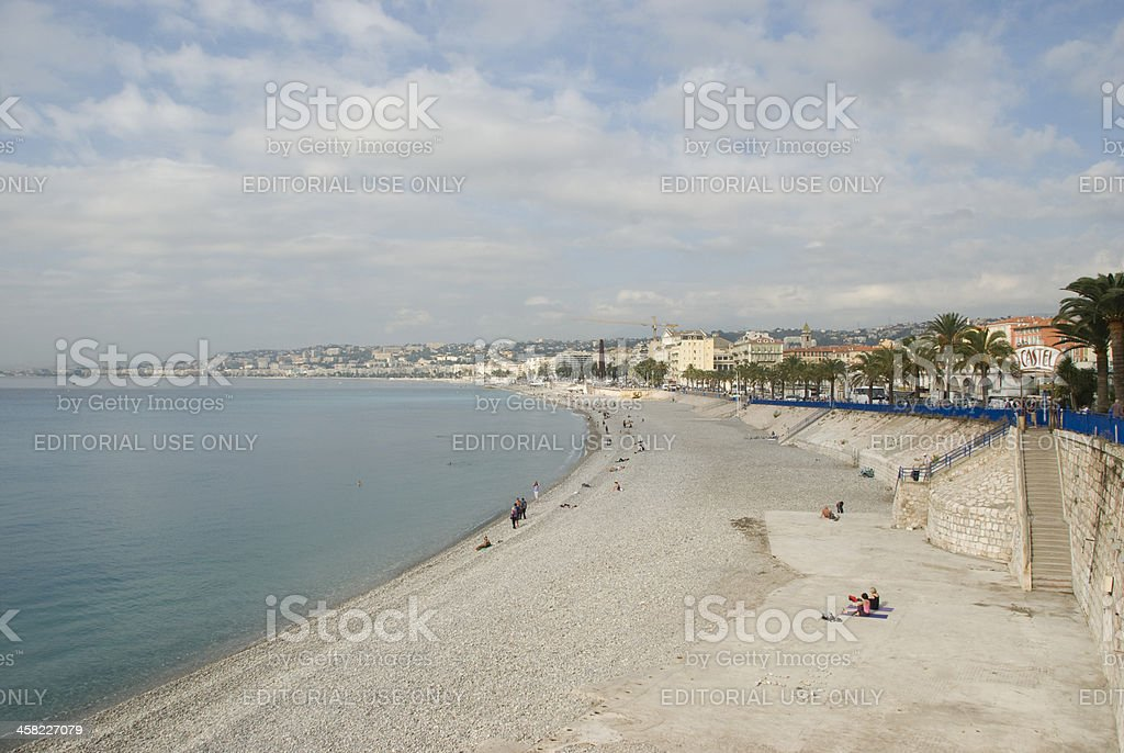 beach in nice, france royalty-free stock photo