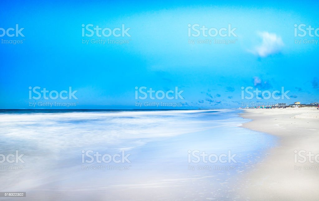 Beach in Oak Island stock photo