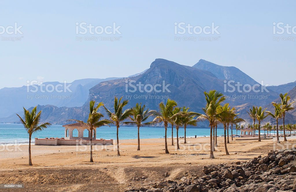 Beach in Oman stock photo