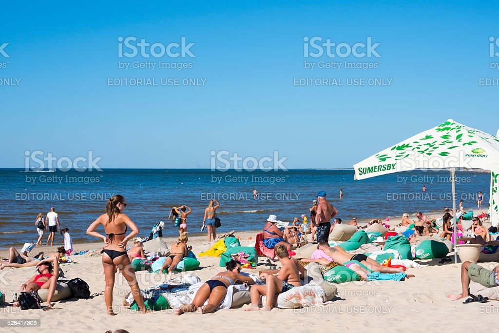Beach in Palanga, Lithuania stock photo