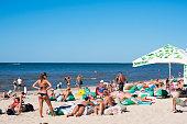 Beach in Palanga, Lithuania
