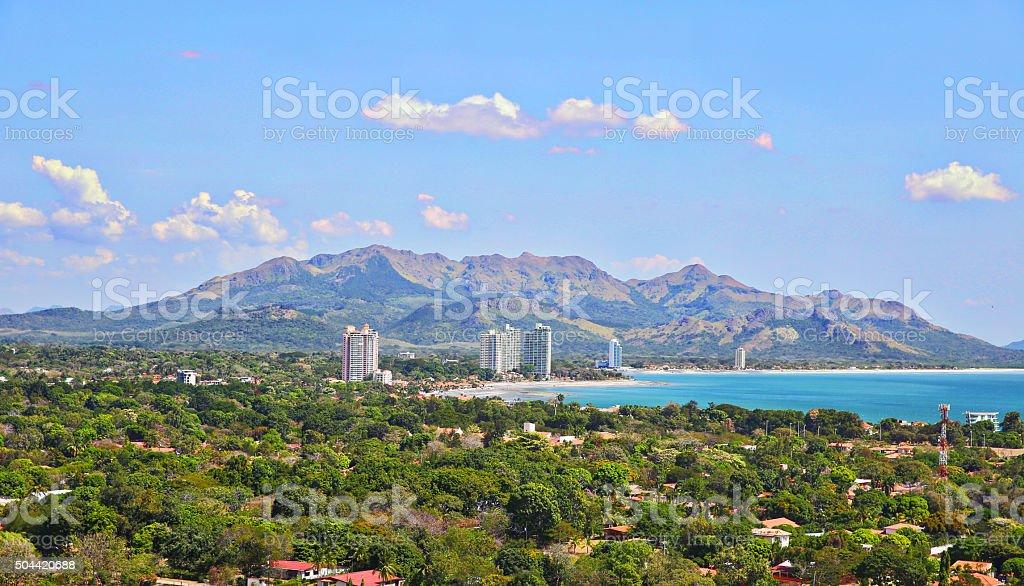 Beach in Panama stock photo