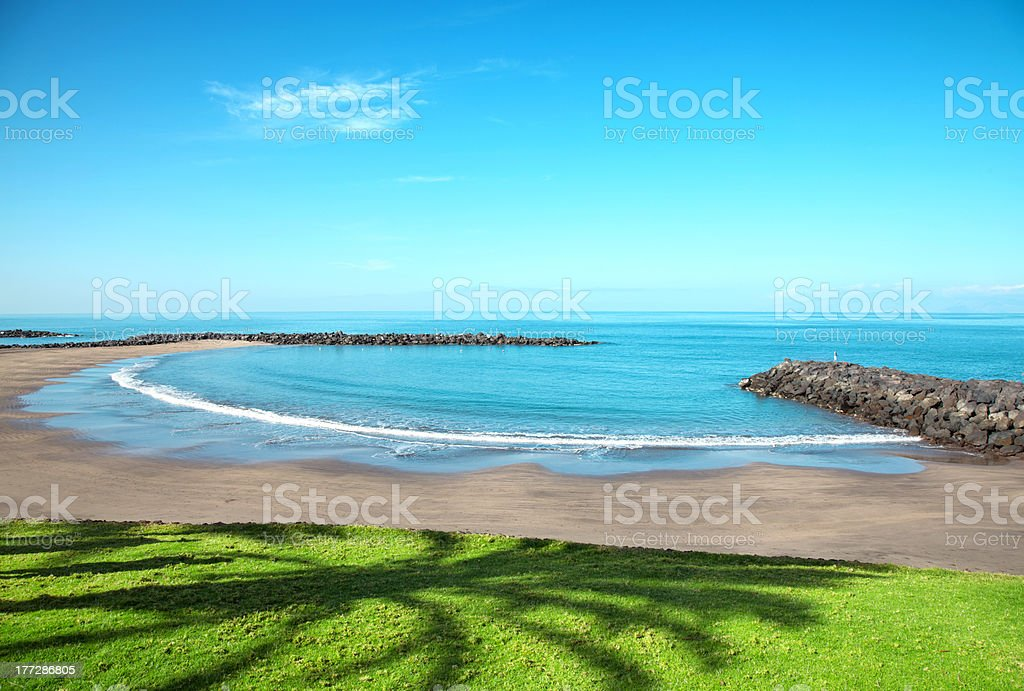 Beach in Playa de las Americas, Tenerife stock photo