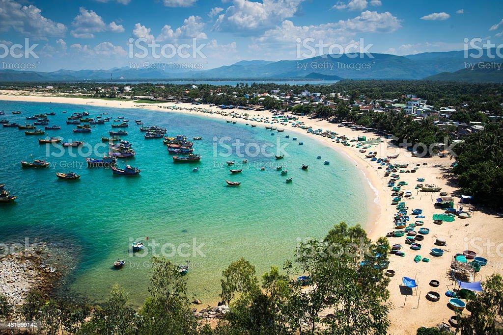 Beach in Quy Nhon city, Binh Dinh province, Vietnam stock photo