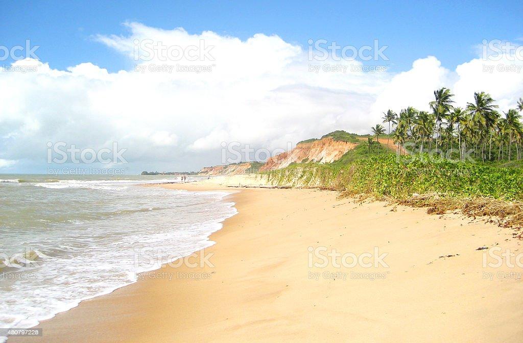 Beach in Recife, Brazil stock photo