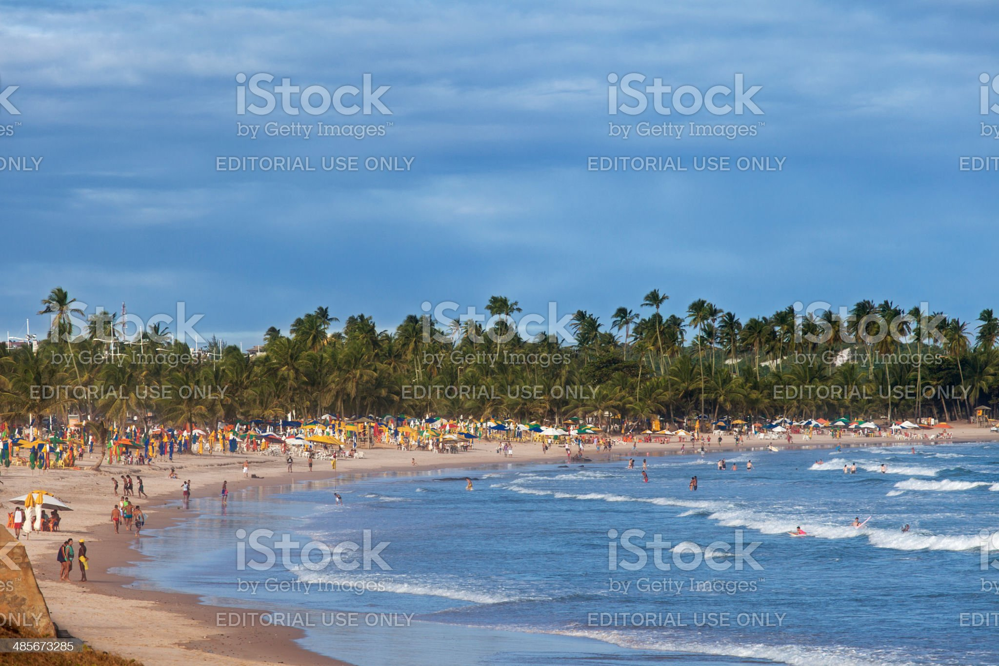 Beach in Salvador, Bahia royalty-free stock photo