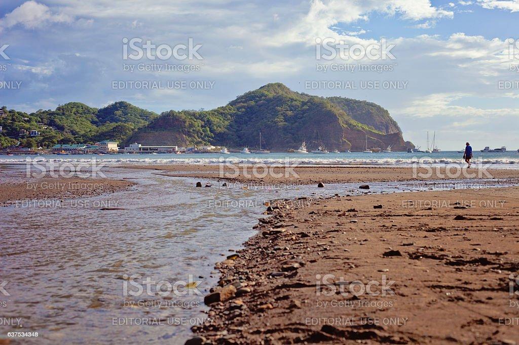 Beach in San Juan del Sur stock photo