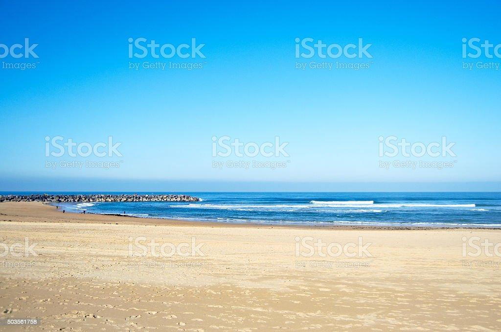 Beach in San Sebastian, Spain stock photo