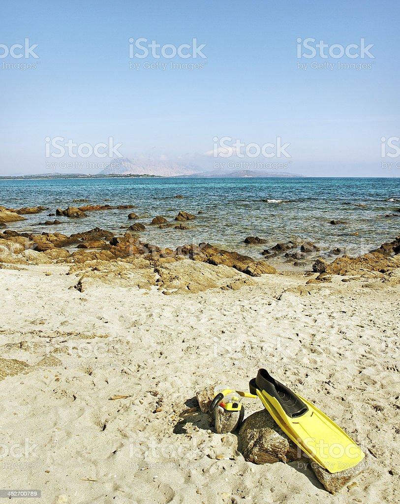 Beach in Sardinia, Italy. stock photo