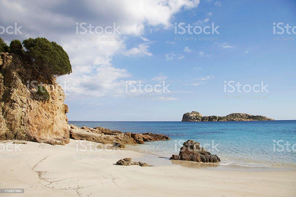 Beach in Sardinia stock photo