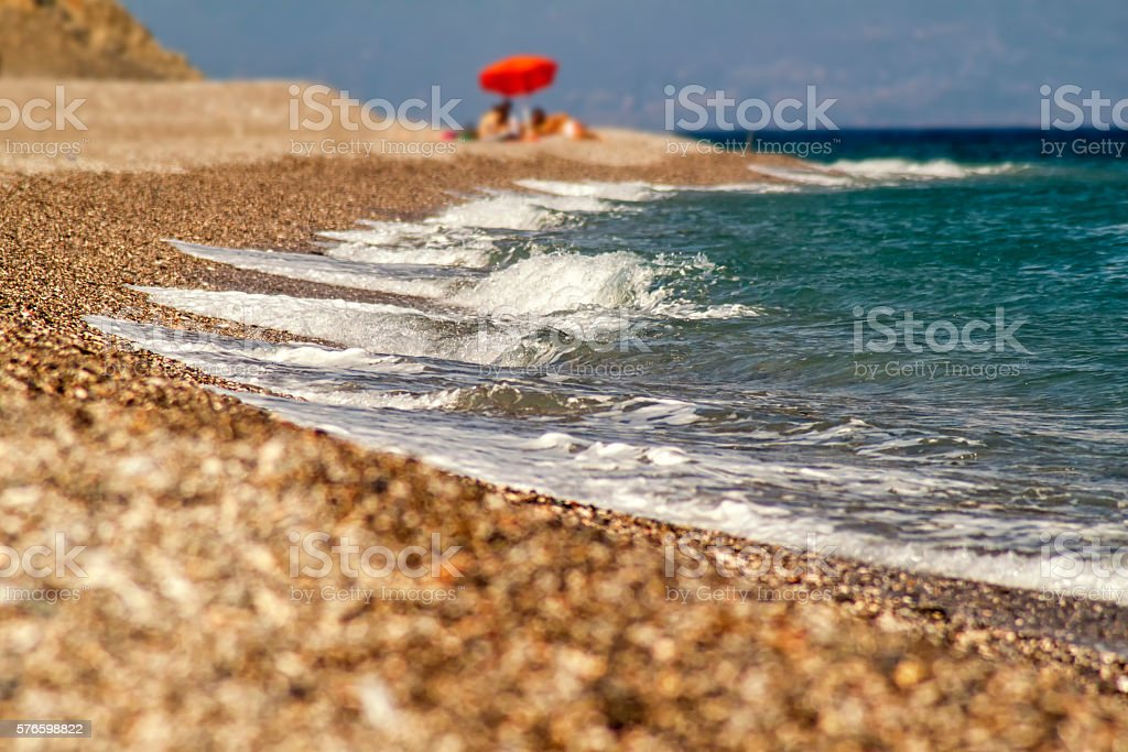 Beach in sicily - italy stock photo