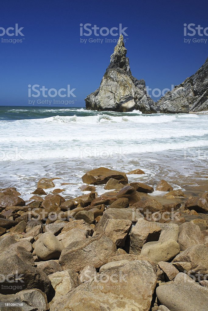 Beach in Sintra royalty-free stock photo