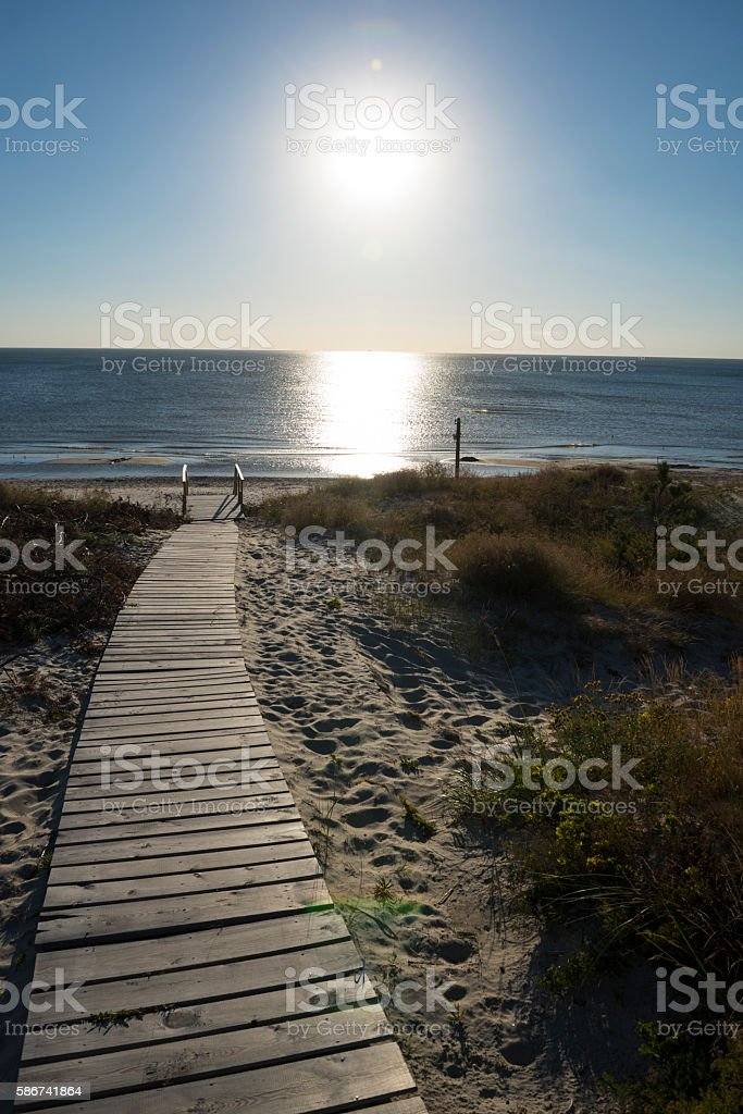 Beach in Smiltyne on the Curonian Spit, Lithuania stock photo