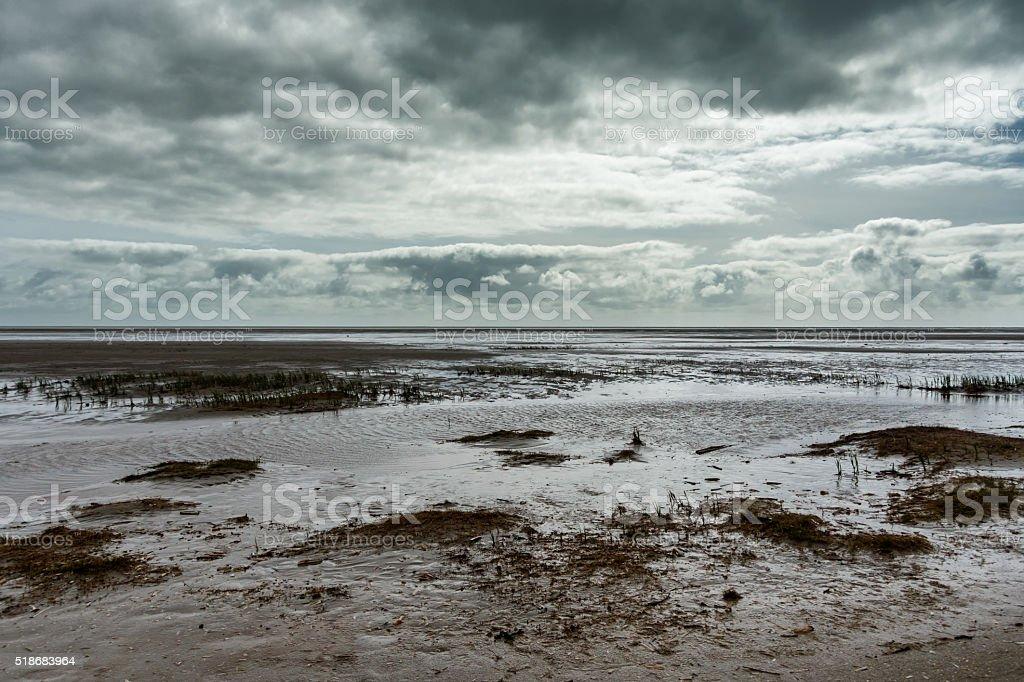 Beach in Sonderho at Fanoe in Denmark stock photo