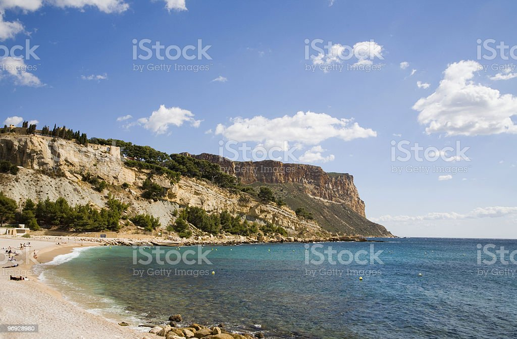 Beach in Southern France stock photo