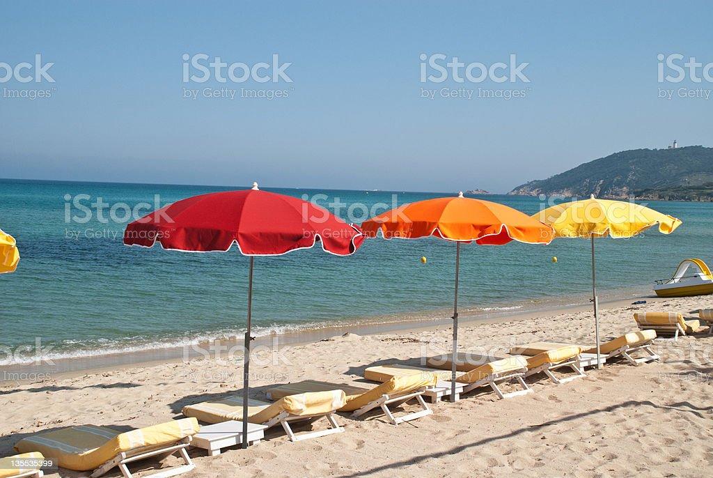 Beach in st tropez stock photo