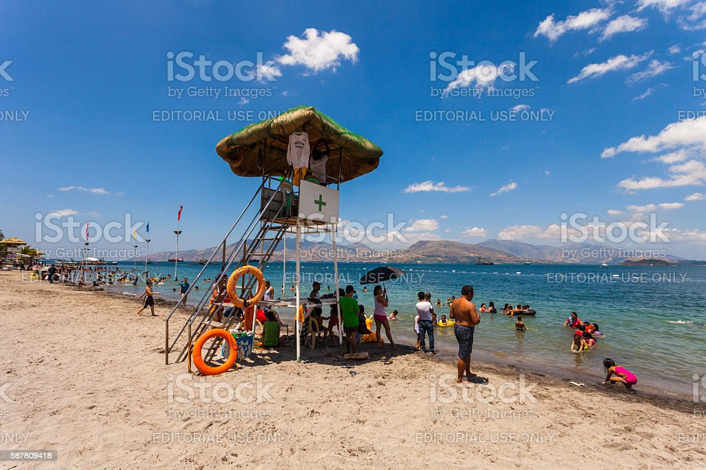 Beach in Subic, Zambales stock photo