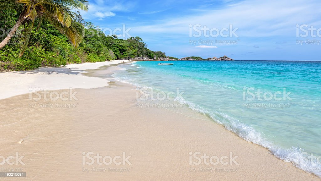 Beach in summer of Thailand stock photo