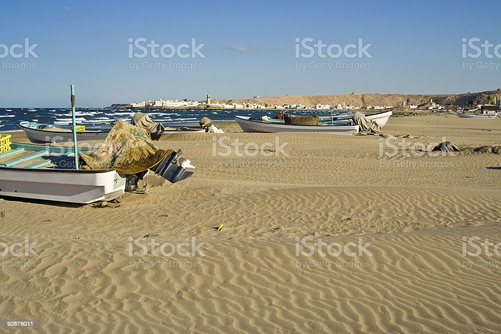 beach in Sur, Oman royalty-free stock photo