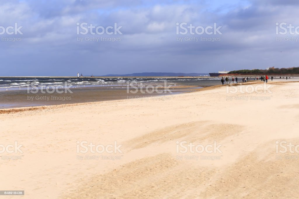 Beach in Swinoujscie stock photo