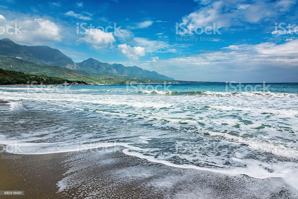 Beach in Taiwan, East Coast National Scenic Area stock photo