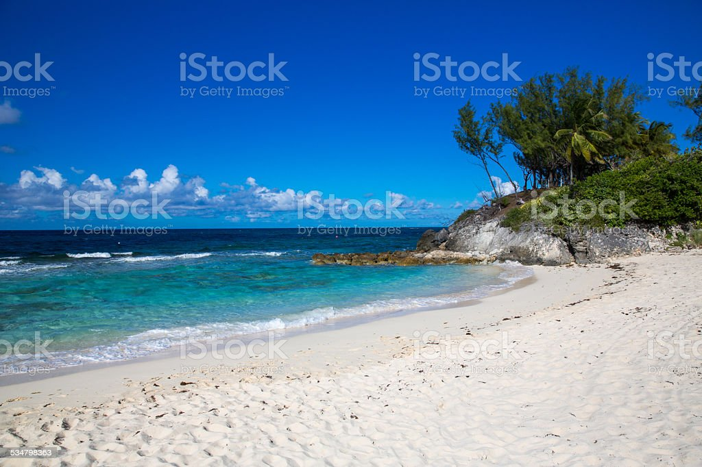 Beach in the Caribbean. stock photo