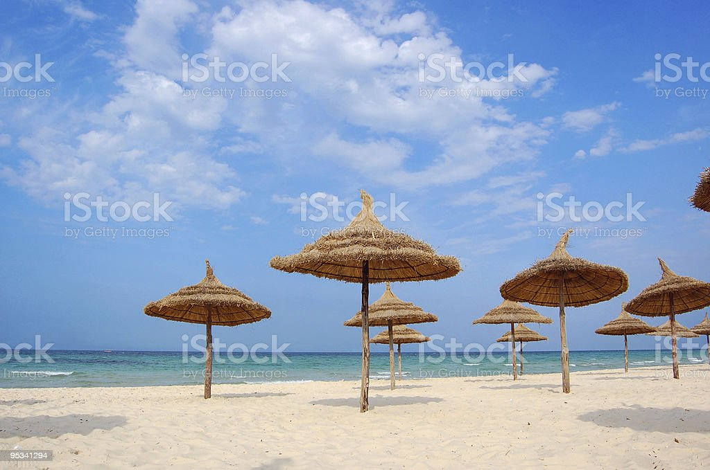 Beach in the city of Suss stock photo