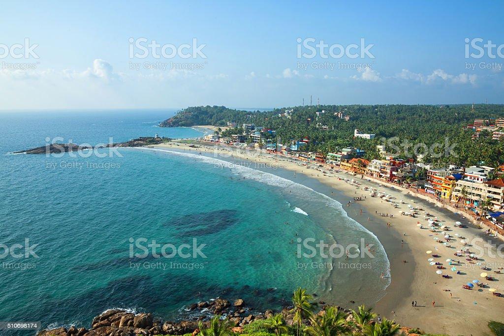 Beach in Thiruvananthapuram stock photo