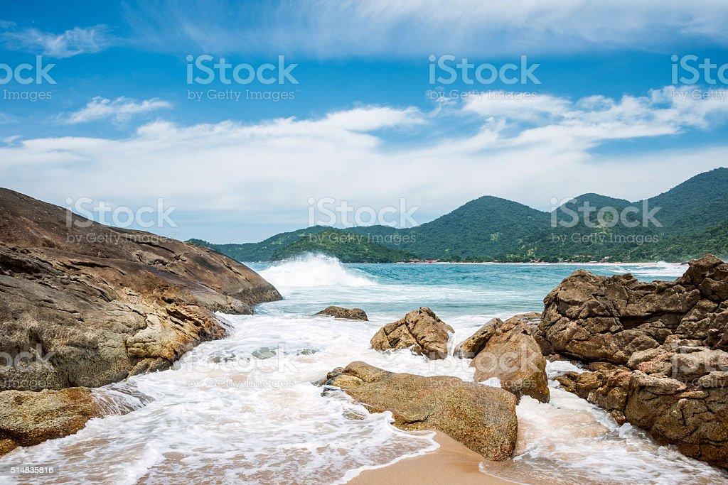 Beach in Trinidade, Brazil stock photo