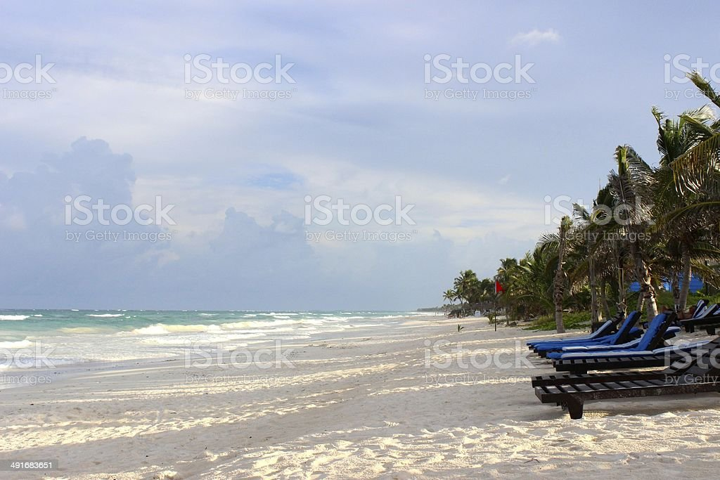 Beach in Tulum, Mexico royalty-free stock photo