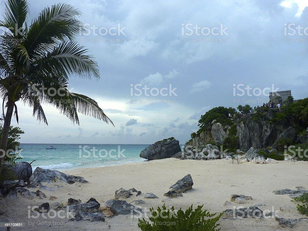 Beach in Tulum, Mexico royalty-free stock photo