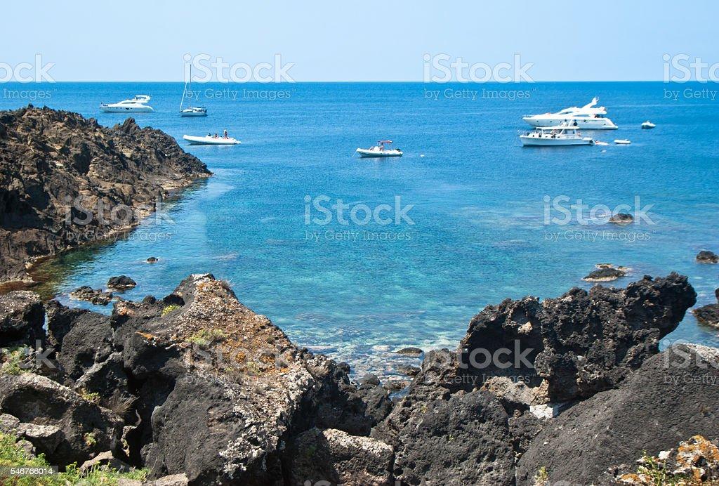 beach in Ustica Island,Sicily stock photo