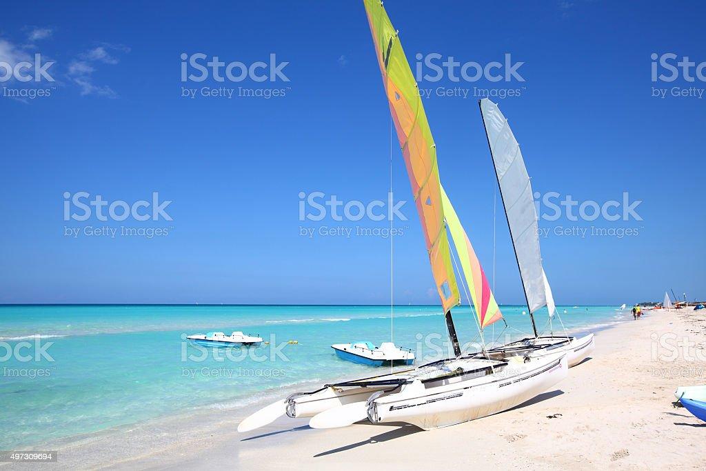 Beach in Varadero Cuba stock photo