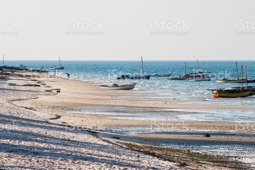 Beach in Vilanculos, Mozambique. stock photo