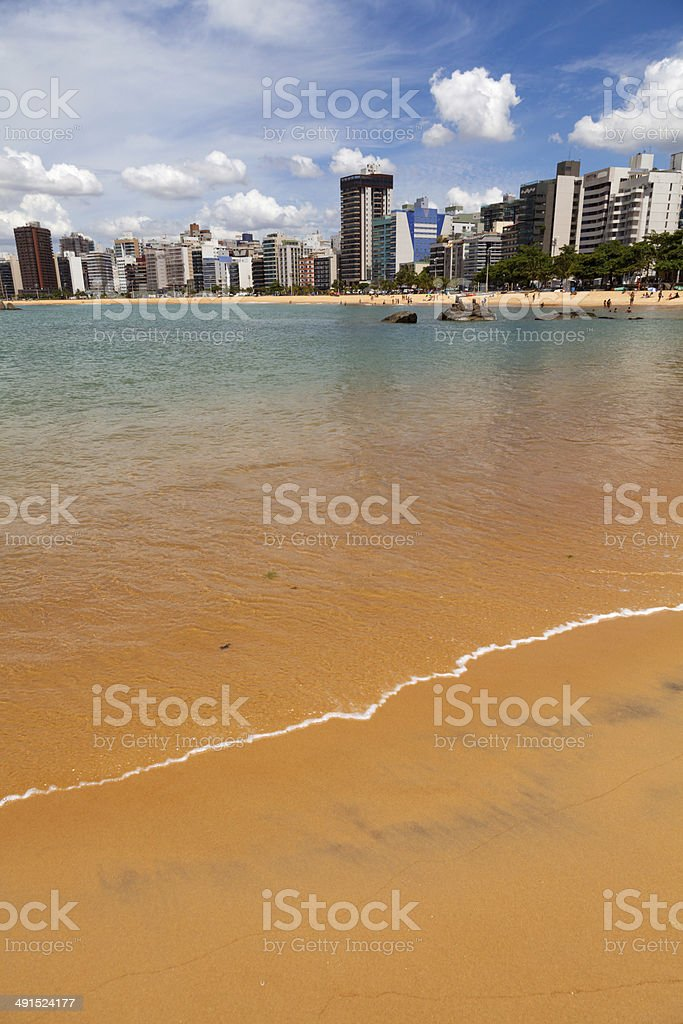 Beach in Vitoria,Espirito Santo,Brazil royalty-free stock photo