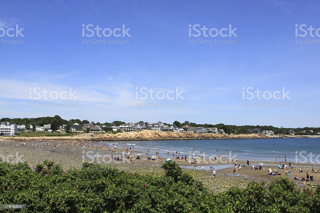 Beach in York, Maine. stock photo