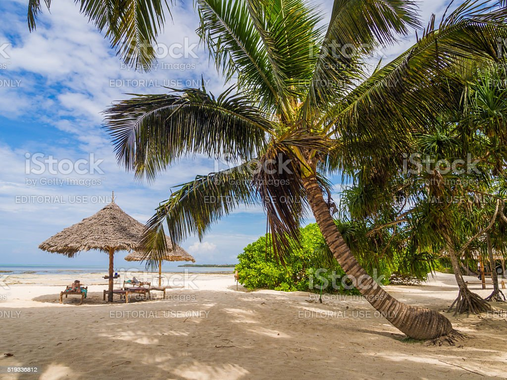 Beach in Zanzibar stock photo