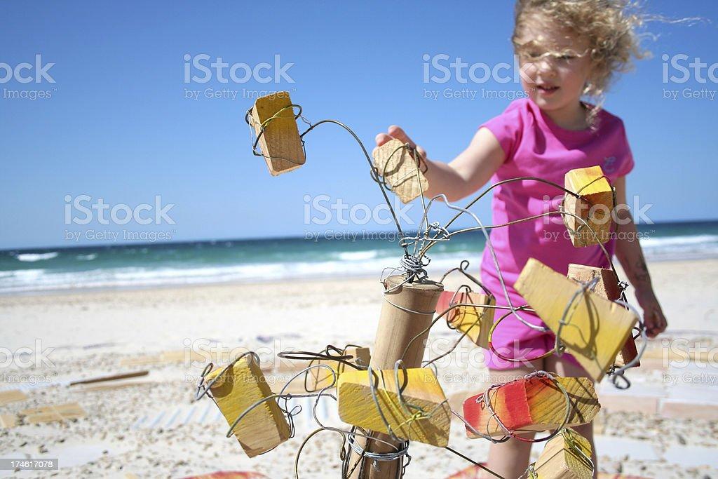 Beach Invader! royalty-free stock photo