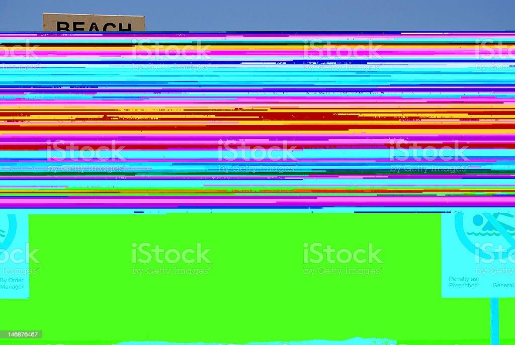 Playa está cerrado foto de stock libre de derechos
