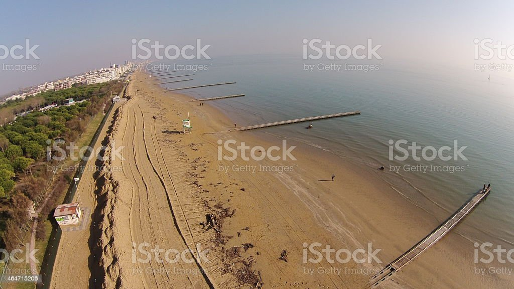 Beach Jesolo Italy stock photo