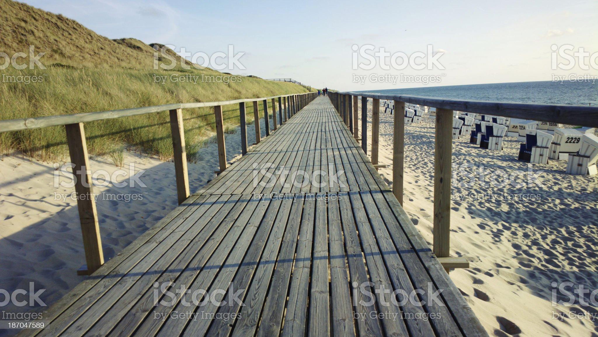 Beach jetty royalty-free stock photo
