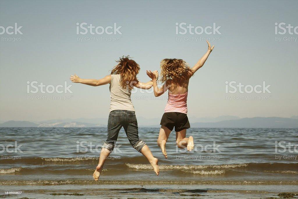 beach jump royalty-free stock photo