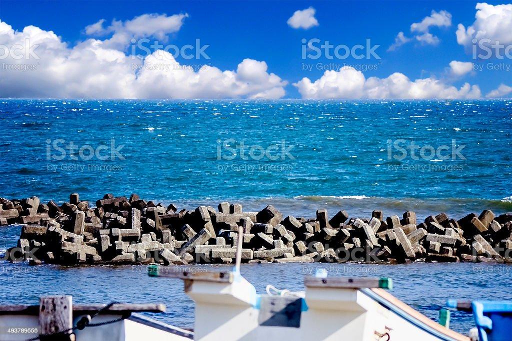 KAMAKURA beach, KANAGAWA JAPAN stock photo
