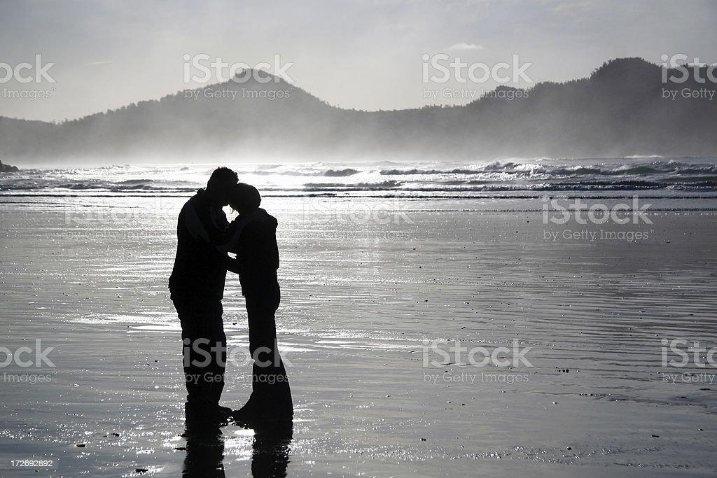 Beach Kiss royalty-free stock photo